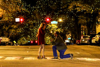 Kolton's Proposal to Jaicee in Downtown Athens
