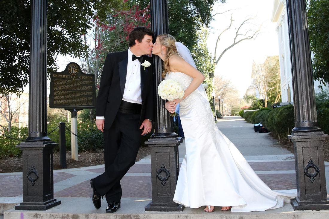 Athens Wedding Photo at UGA Arch